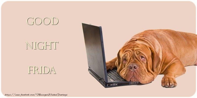 Greetings Cards for Good night - Good Night Frida