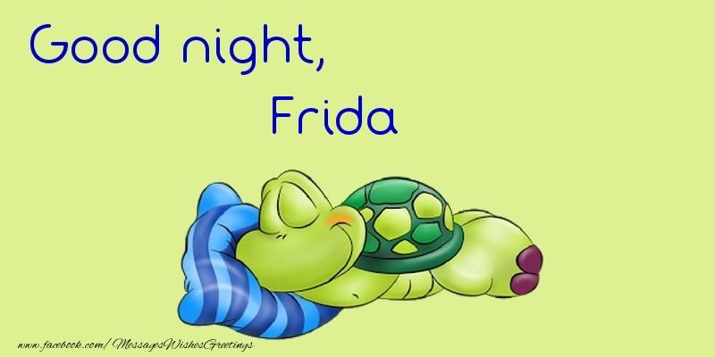 Greetings Cards for Good night - Good night, Frida