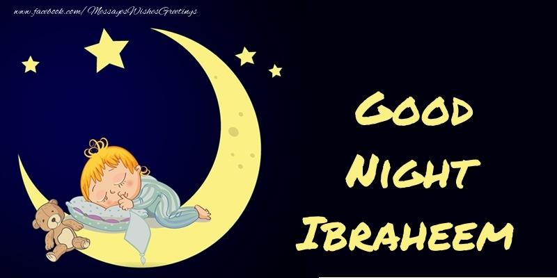 Greetings Cards for Good night - Good Night Ibraheem