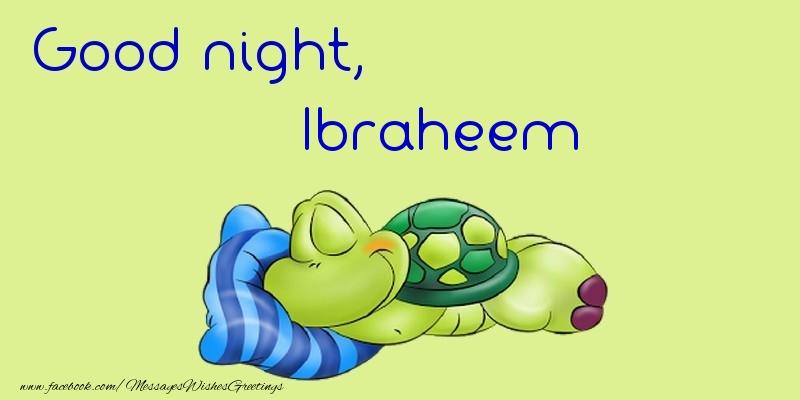 Greetings Cards for Good night - Good night, Ibraheem