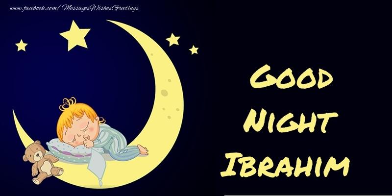 Good Night Ibrahim Greetings Cards For Good Night For Ibrahim