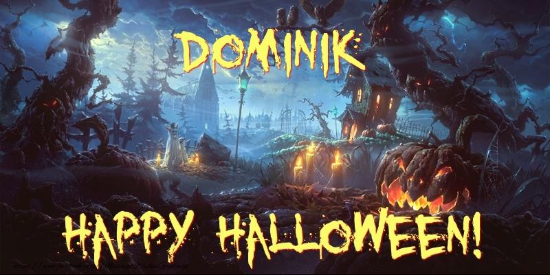 Greetings Cards for Halloween - Dominik Happy Halloween!