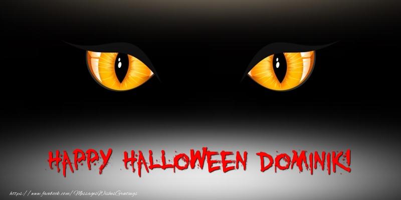Greetings Cards for Halloween - Happy Halloween Dominik!