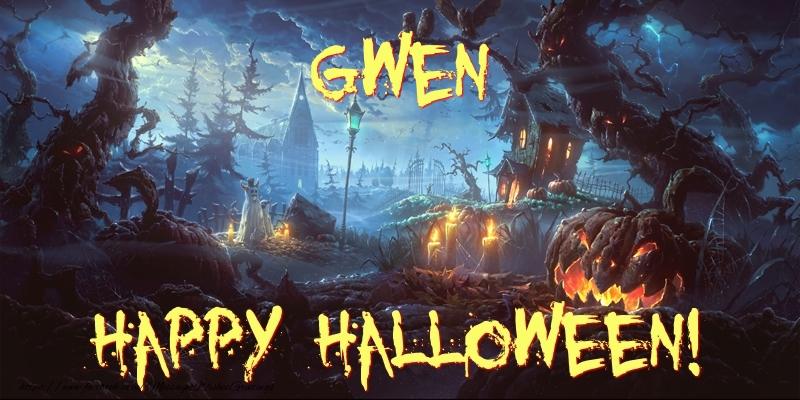Greetings Cards for Halloween - Gwen Happy Halloween!