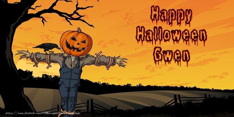 Greetings Cards for Halloween - Happy Halloween Gwen