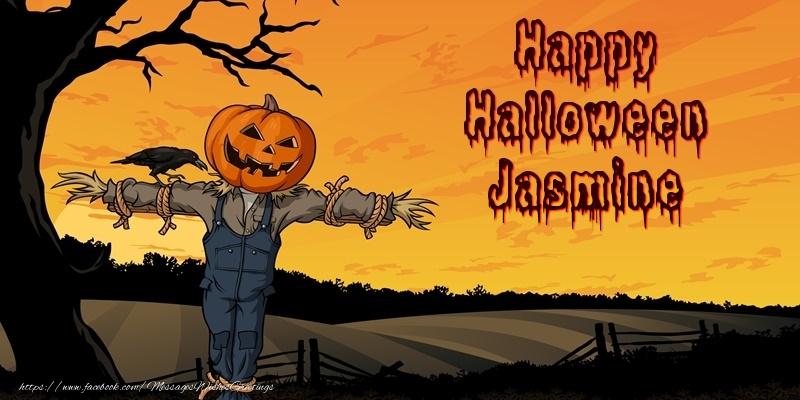 Jasmine Happy Halloween! - Greetings Cards for Halloween for ...