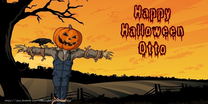 Greetings Cards for Halloween - Happy Halloween Otto