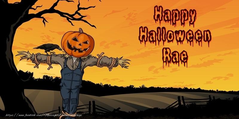 Greetings Cards for Halloween - Happy Halloween Rae
