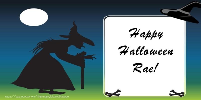 Greetings Cards for Halloween - Happy Halloween Rae!