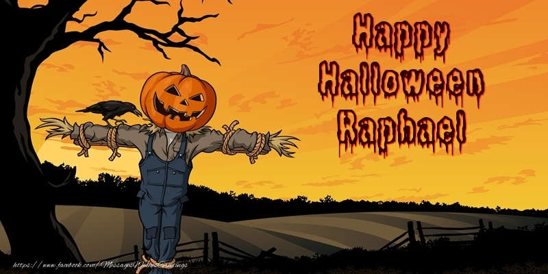 Greetings Cards for Halloween - Happy Halloween Raphael