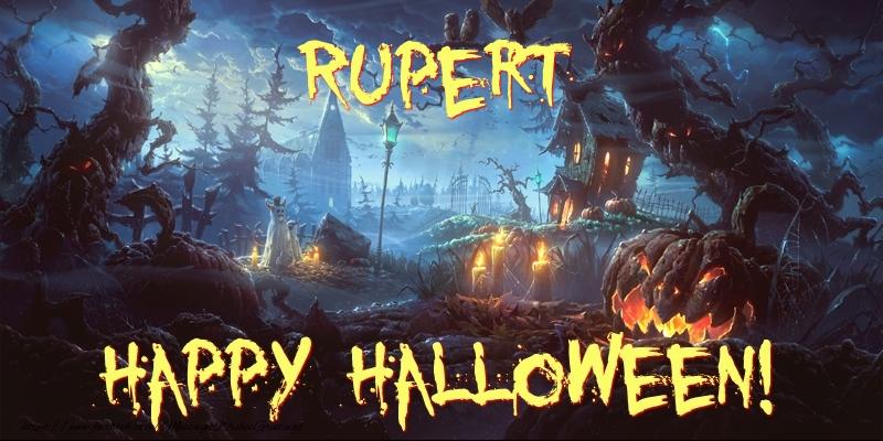 Greetings Cards for Halloween - Rupert Happy Halloween!