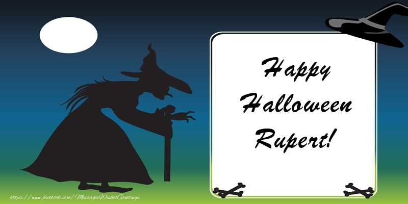 Greetings Cards for Halloween - Happy Halloween Rupert!