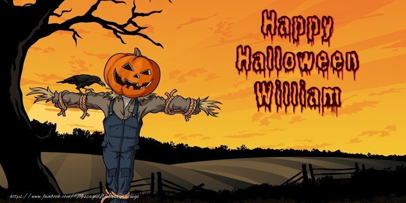 Greetings Cards for Halloween - Happy Halloween William
