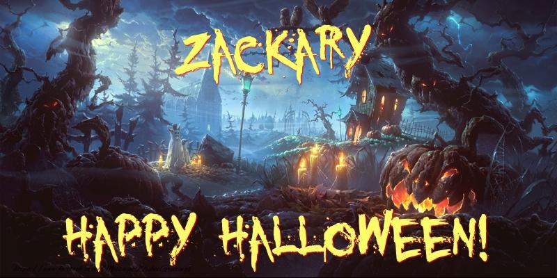 Greetings Cards for Halloween - Zackary Happy Halloween!
