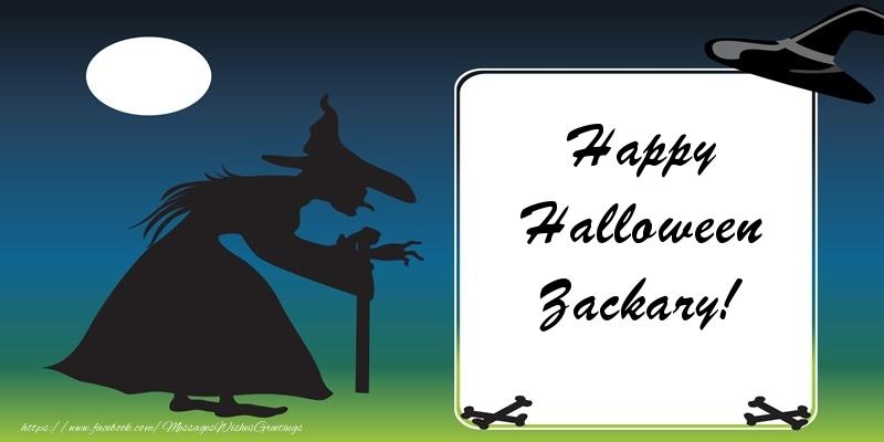 Greetings Cards for Halloween - Happy Halloween Zackary!