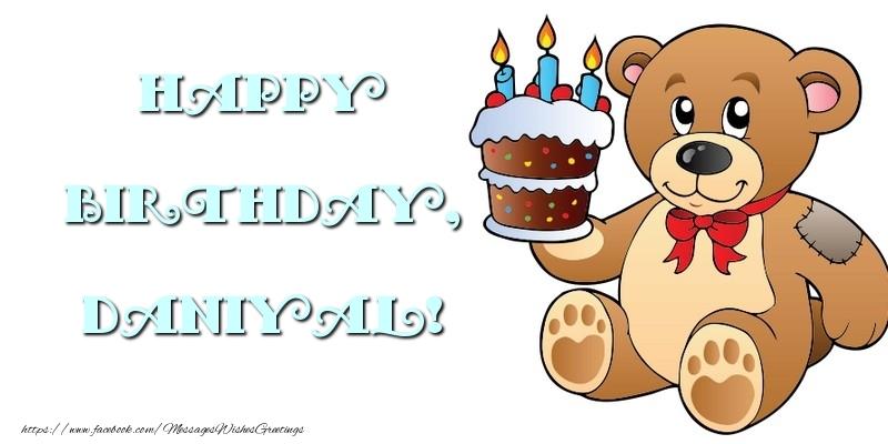 Greetings Cards for kids - Happy Birthday, Daniyal