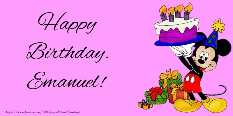 Greetings Cards for kids - Happy Birthday. Emanuel