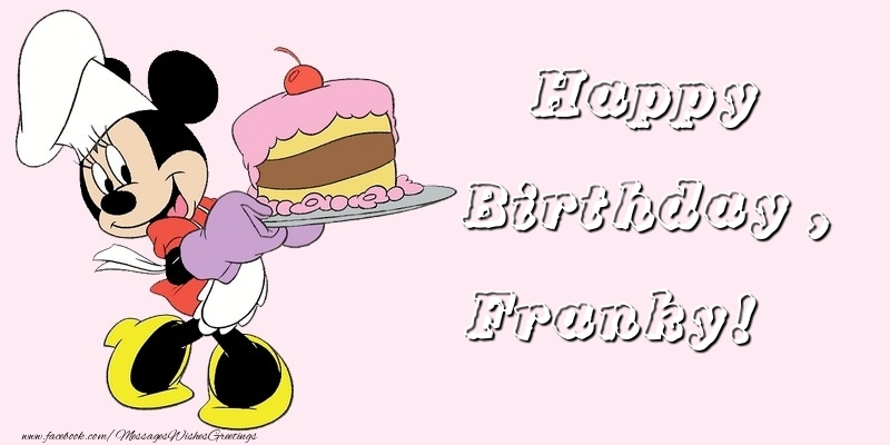 Greetings Cards for kids - Happy Birthday, Franky