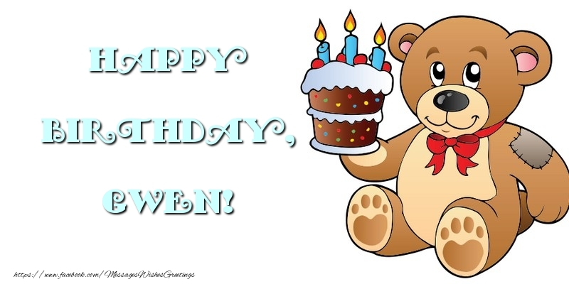 Greetings Cards for kids - Happy Birthday, Gwen