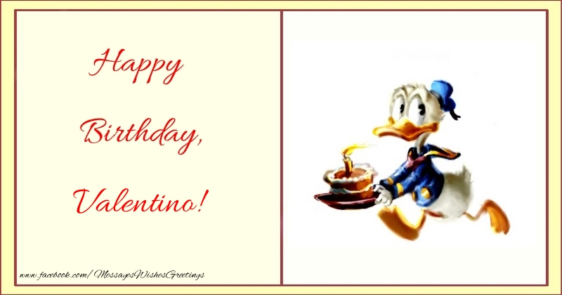 Greetings Cards for kids - Happy Birthday, Valentino