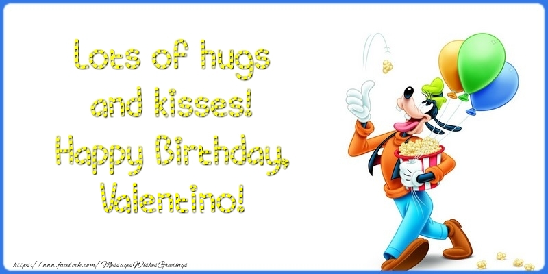 Greetings Cards for kids - Lots of hugs and kisses! Happy Birthday, Valentino