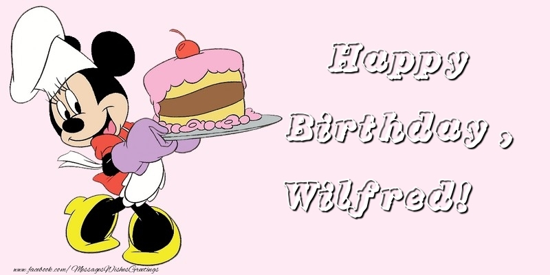 Greetings Cards for kids - Happy Birthday, Wilfred