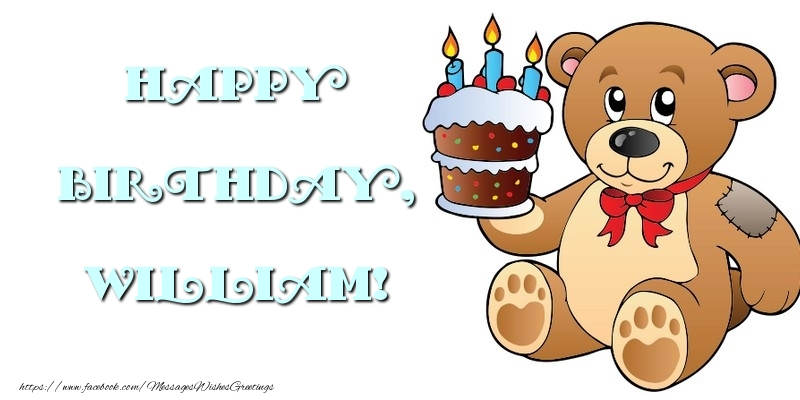 Greetings Cards for kids - Happy Birthday, William