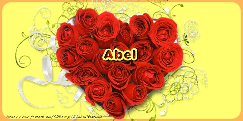 Greetings Cards for Love - Abel