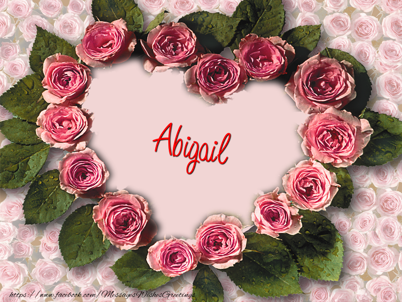 Greetings Cards for Love - Abigail