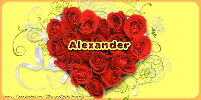 Greetings Cards for Love - Alexander