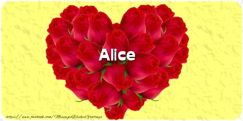 Greetings Cards for Love - Alice