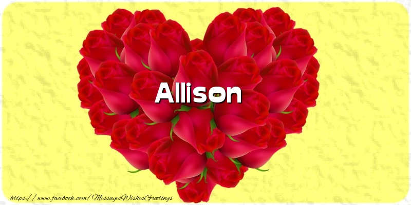 Greetings Cards for Love - Allison