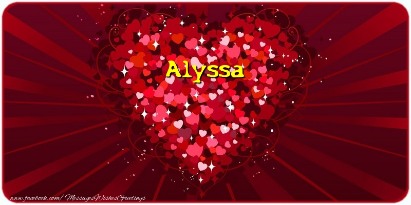 Greetings Cards for Love - Alyssa