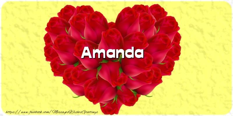 Greetings Cards for Love - Amanda