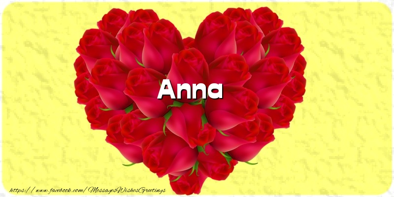 Greetings Cards for Love - Anna