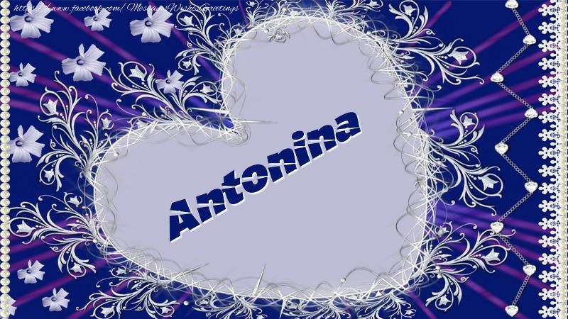 Greetings Cards for Love - Antonina