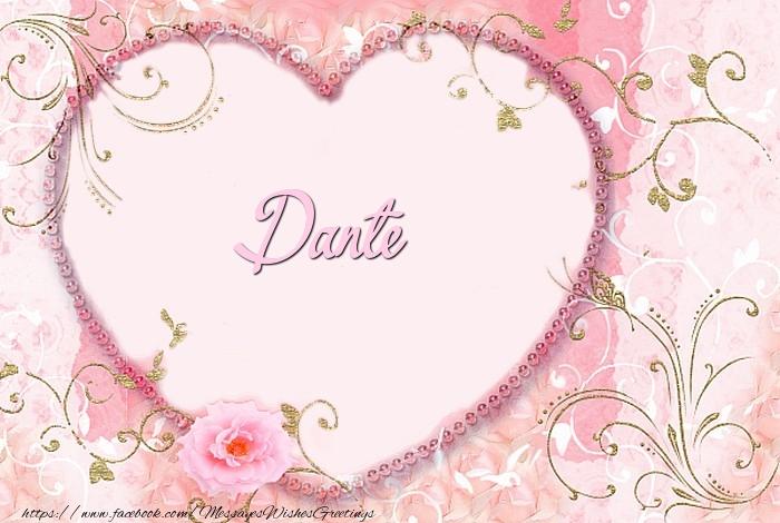 Greetings Cards for Love - Dante