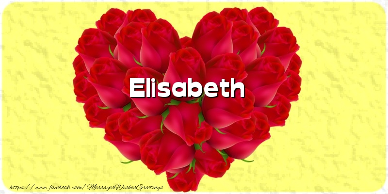Greetings Cards for Love - Elisabeth