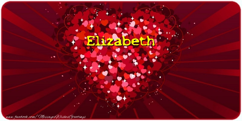 Greetings Cards for Love - Elizabeth