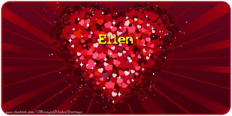 Greetings Cards for Love - Ellen