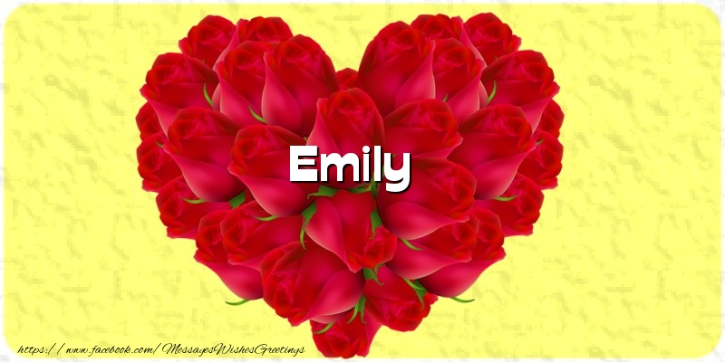 Greetings Cards for Love - Emily