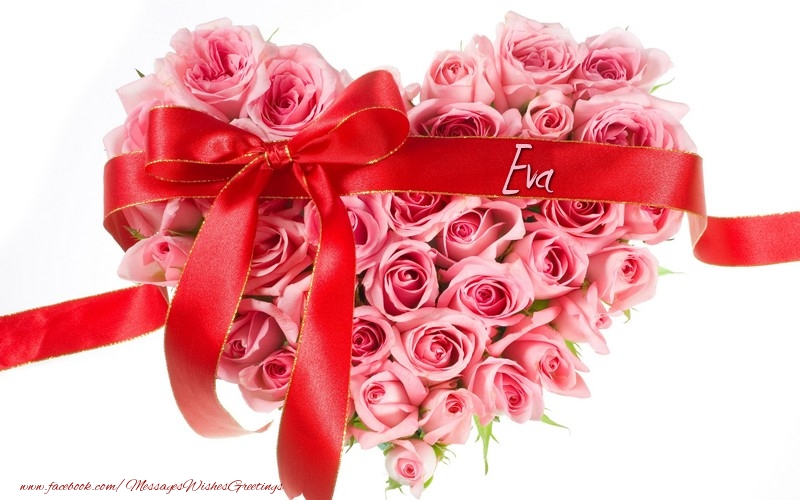 Greetings Cards for Love - Name on my heart Eva
