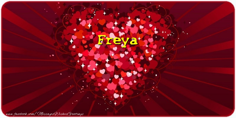 Greetings Cards for Love - Freya