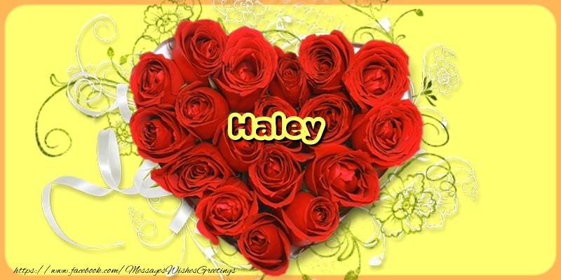 Greetings Cards for Love - Haley