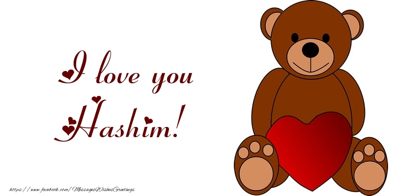Greetings Cards for Love - I love you Hashim!