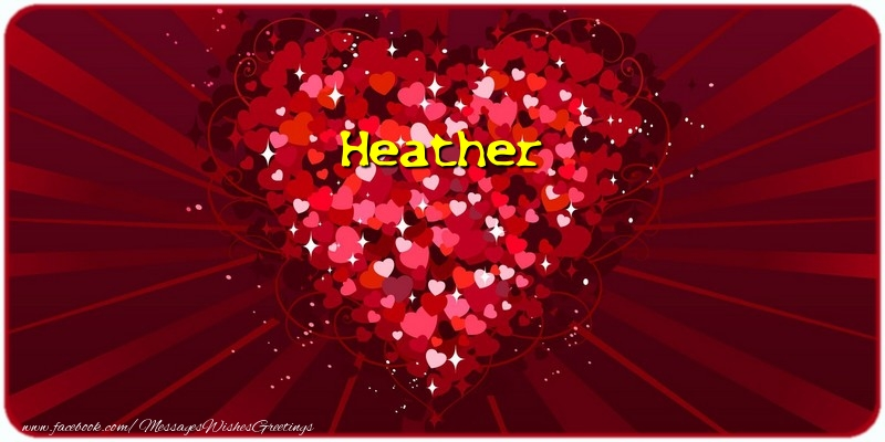 Greetings Cards for Love - Heather