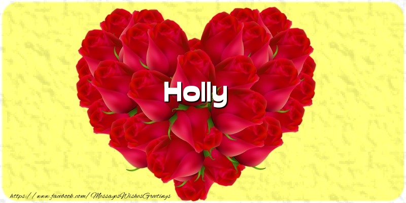 Greetings Cards for Love - Holly