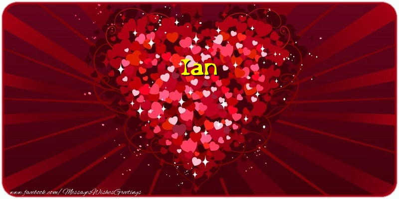 Greetings Cards for Love - Ian