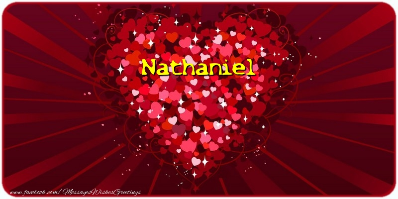 Greetings Cards for Love - Nathaniel