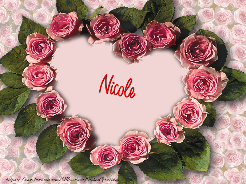 Greetings Cards for Love - Nicole